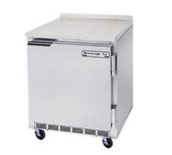 Beverage Air WTF27A 27in Freezer, 35.5in H Work Top, 1 Section/Door, 1/4 HP