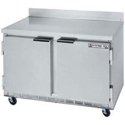 Beverage Air WTF48A-23 48-in Worktop Freezer w/ 2-Solid Doors, 3-in Casters, 13.9-cu ft