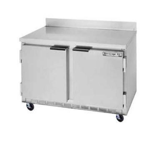 Beverage Air WTF48A 48 in Freezer, 35.5in H Work Top, 2 Section/Door, 1/3 HP