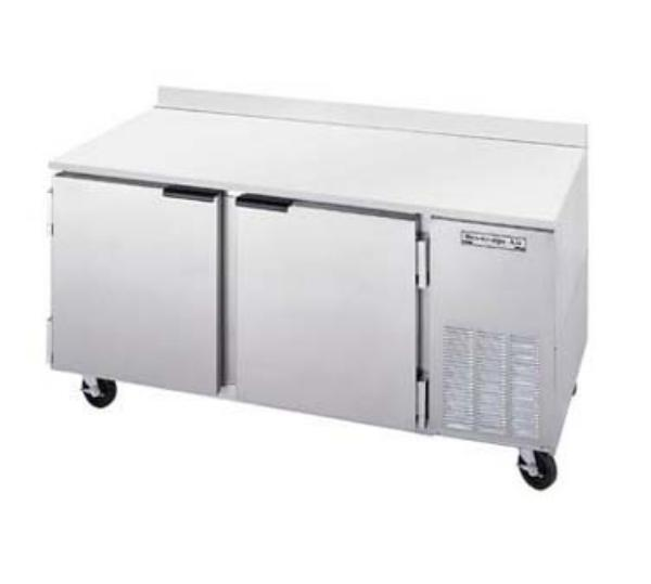 Beverage Air WTF67A 67 in Freezer, 35.5in H Work Top, 2 Section/Door, 3/4 HP