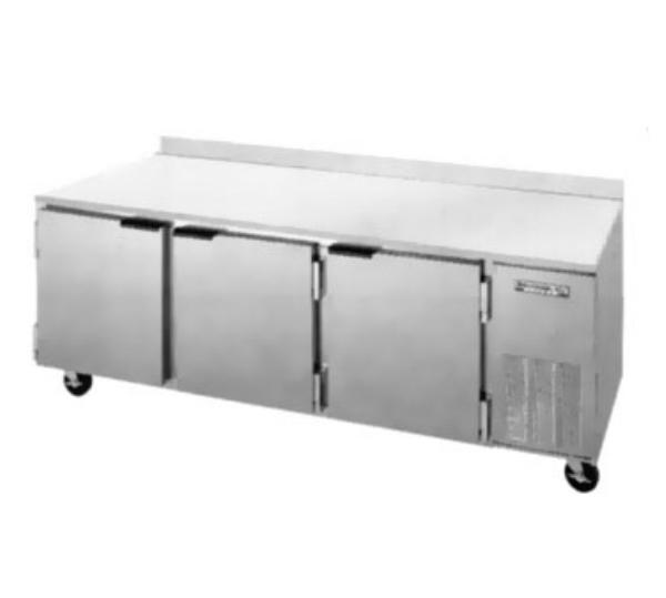 "Beverage Air WTR93A 93"" Work Top Refrigerator w/ (3) Sections,115v"