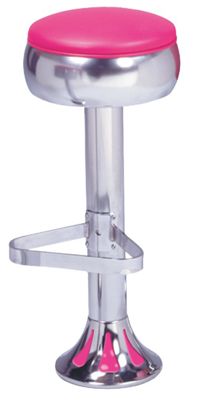 Vitro 1700781 Classic Bulged Ring Seat Tear Drop Fountain Stool, Chrome