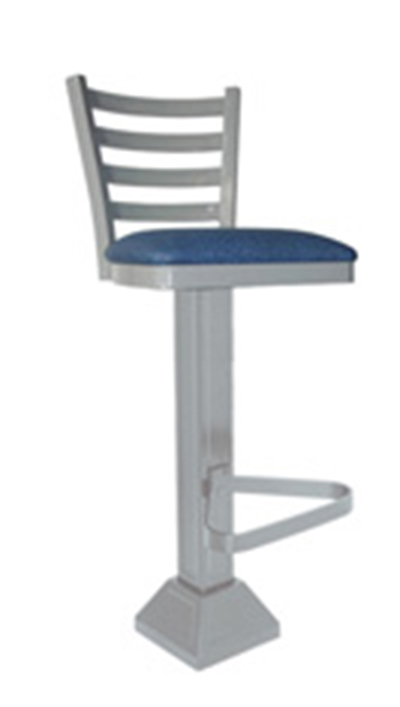 Vitro 1800-LSC-650 4-Rung Ladder Back Pedestal Barstool w/ 1.25-in Pulled Swivel Seat