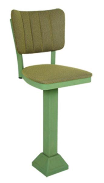 Vitro 1800OX30 Oxford Series Bar Stool, Channel Back, Pedestal Base