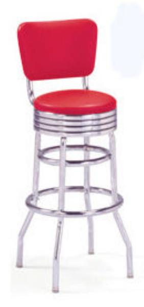 Vitro 215782RB49NSRB Bar Stool, Revolving