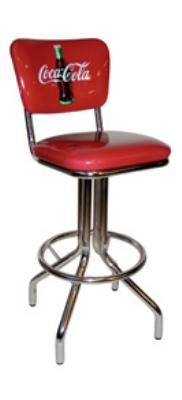 Vitro 250921CBB Coke Diner Stool, 30 in Height with Back, C