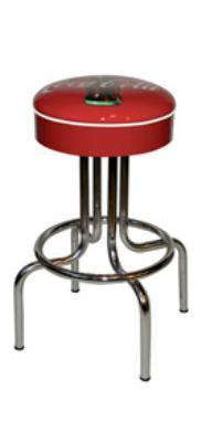 Vitro 264125CBB Coke Bulls'-Eye Stool 24 in Seat Height Restaurant Supply