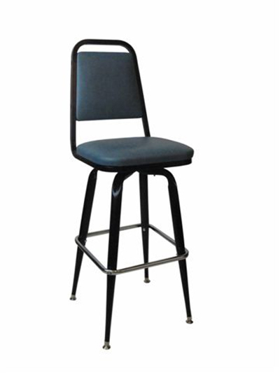 Vitro 265X24 Bar Stool, Revolving Seat & Flat Back, Metal Paint, Tapered Legs