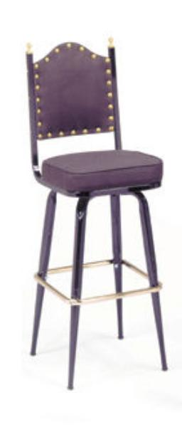 Vitro 265X41BNSH Bar Stool, Revolving Seat & Back, Metal Paint, Tapered Legs