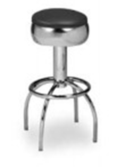 Vitro 300-781 Arch Leg Barstool w/ Chrome Swivel Seat Ring, 6-Glide & 3.5-in Column