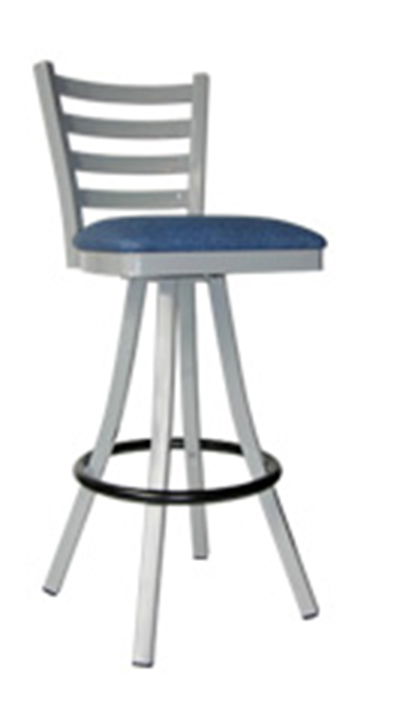 Vitro 600-LSC-650 4-Rung Ladder Back Barstool w/ 1.25-in Pulled Swivel Seat