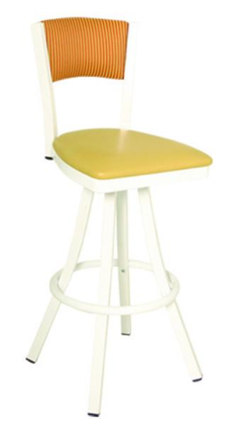 Vitro 600OX60 Oxford Series Bar Stool, Plain Back, Free Standing Swivel, Metal Frame