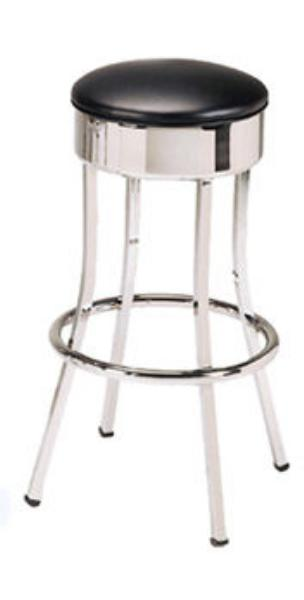 Vitro 751 Economy Bar Stool, Square Tubing, Chrome