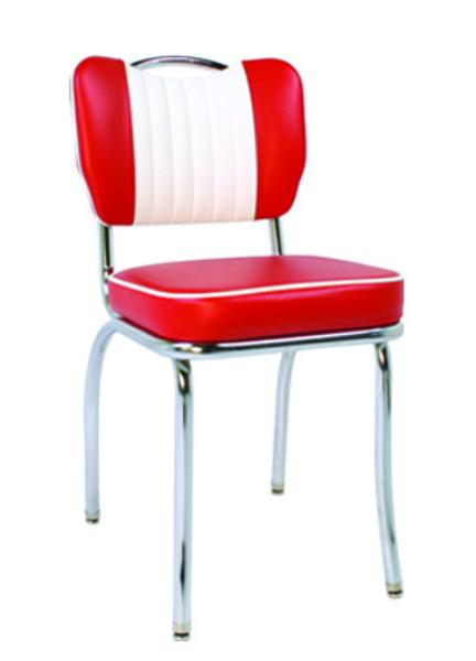 Vitro 921HBSHMB Classic Diner Chair, Malibu Back w/ Handle, 2 in Sewn Hood Seat, Chrome