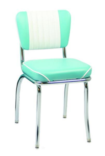Vitro 921MBWF Classic Diner Chair, Malibu Back, 2 in Waterfall Seat, Chrome