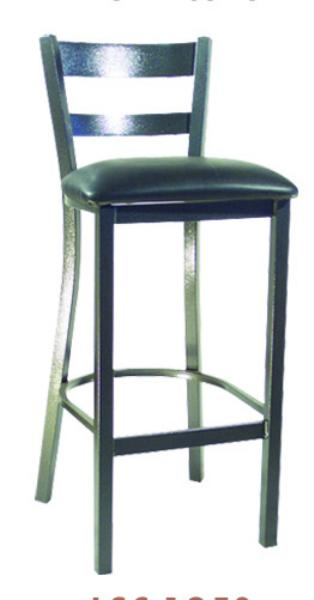 Vitro LSC1250 Legend Series Bar Stool, Horizontal Slat Back, Metal Frame