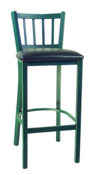 Vitro LSC1350 Legend Series Bar Stool, Vertical Slat Back, Metal Frame