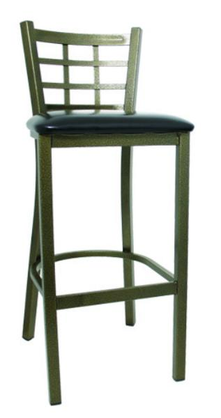 Vitro LSC1475 Legend Series Bar Stool, Lattice Back, Metal Frame