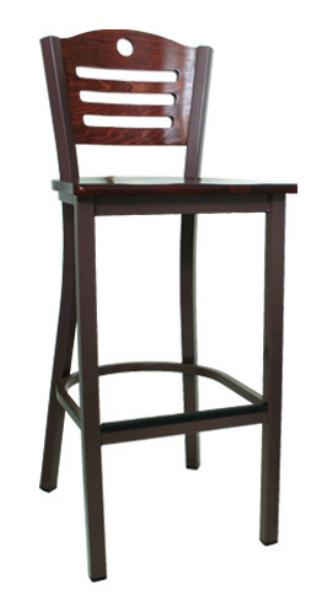 Vitro LSC1501 Legend Series Bar Stool, Slotted Moon Back, Metal Frame