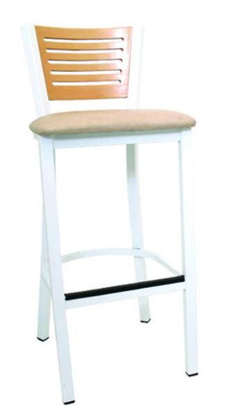 Vitro LSC1600 Legend Series Bar Stool, 5 Slotted Back, Metal Frame