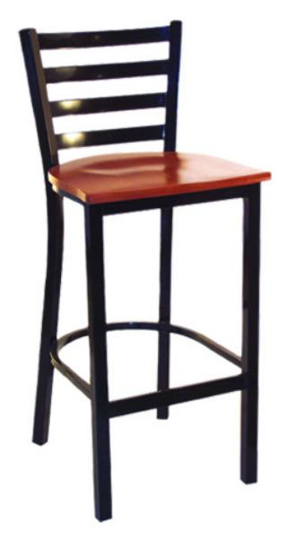 Vitro LSC1650 Legend Series Bar Stool, 4 Rung Ladder Back, Metal Frame