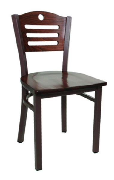 Vitro LSC501 Legend Series Chair, Slotted Moon Back, Metal Frame