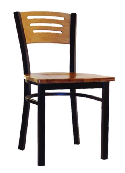 Vitro LSC575 Legend Series Chair, 3 Slotted Back, Metal Frame