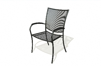 Vitro MDC-200 50 Malla Arm Chair w/ Curved Seat, Charcoal