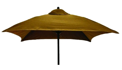 Vitro MLU-6-SQ 50 5913 Square Umbrella, 6-ft High w/ Black Pole, Bay Brown