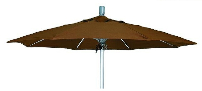 Vitro MLU-7-OCT 70 5097 Octagonal Umbrella, 7-ft High w/ Platinum Pole, Brass