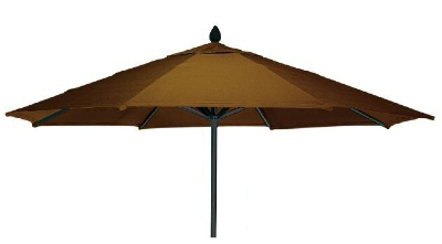 Vitro MLU-9-OCT 70 5097 Octagonal Umbrella, 9-ft High w/ Platinum Pole, Brass