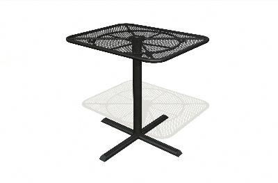 Vitro MMT-125-4040 70 Square Micro Mesh Table Top 40 x 40-in Platinum Restaurant Supply