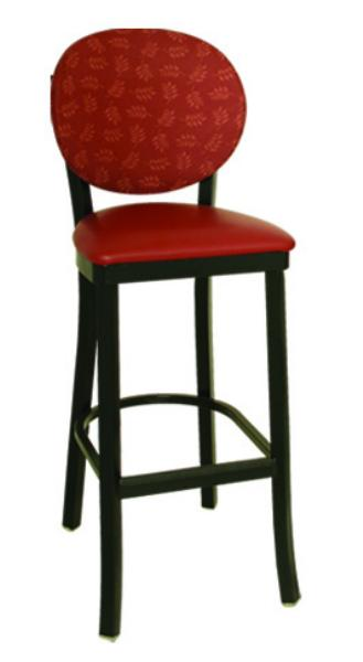 Vitro OX120BS Oxford Series Bar Stool, Round Back, Free Standing, Metal Frame