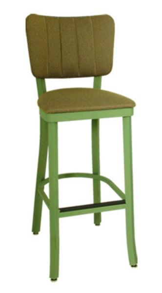 Vitro OX130BS Oxford Series Bar Stool, Channel Back, Free Standing, Metal Frame