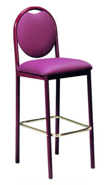 Vitro RBBSPS Omni Series Bar Stool, Round Back, Metal Frame