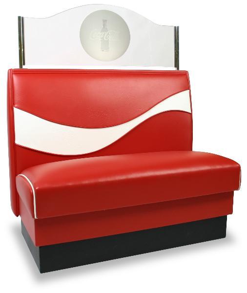 Vitro RIBBONBOOTH2 Coke Dynamic Ribbon Booth, Single, 44 in x 36 in
