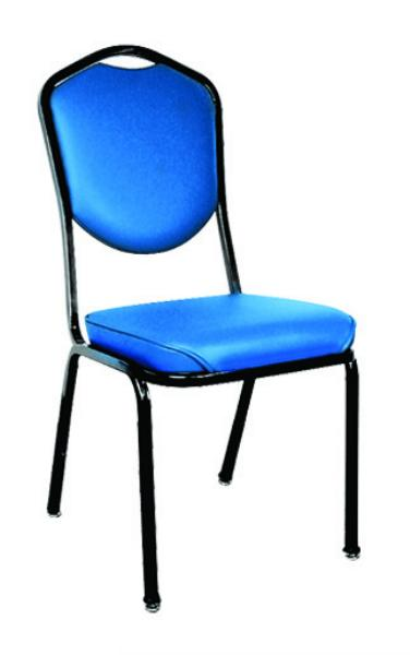 Vitro RO200WF Stacker Series Chair, High Crowned Back, 2 in Waterfall Seat, Metal Frame