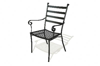 Vitro SBDC-200 50 Slatback Arm Chair, Charcoal Finish