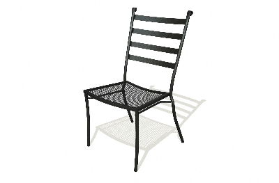 Vitro SBSC-100 50 Slatback Side Chair, Charcoal Finish