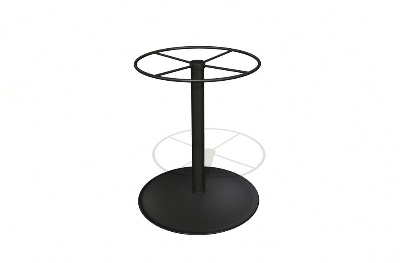 Vitro SCB-30 50 Cafe Table Base, 30-in High, Charcoal