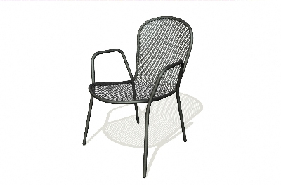 Vitro SDC-200 50 Seaport Arm Chair, Charcoal