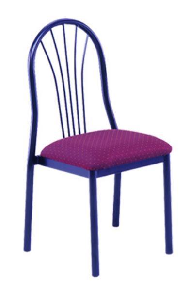 Vitro SFBPS Spectrum Series Chair, Fanback, Metal Frame, Stacks
