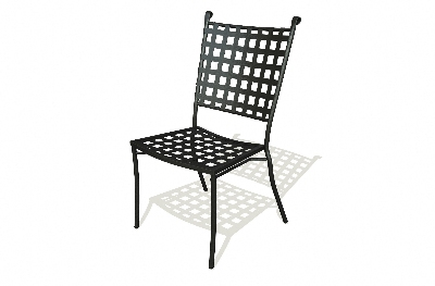 Vitro TSC-100 50 Tissage Side Chair, Open Wave Design, Charcoal