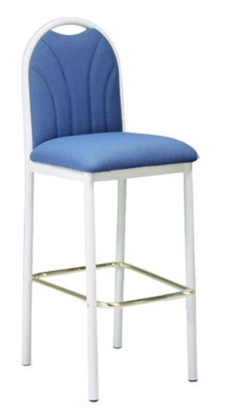 Vitro UFBBSPS Omni Series Bar Stool, Upholstered Fanback, Metal Frame