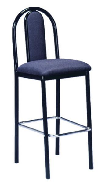 Vitro UHPBSPS Omni Series Bar Stool, Upholstered Hairpin Back, Metal Frame