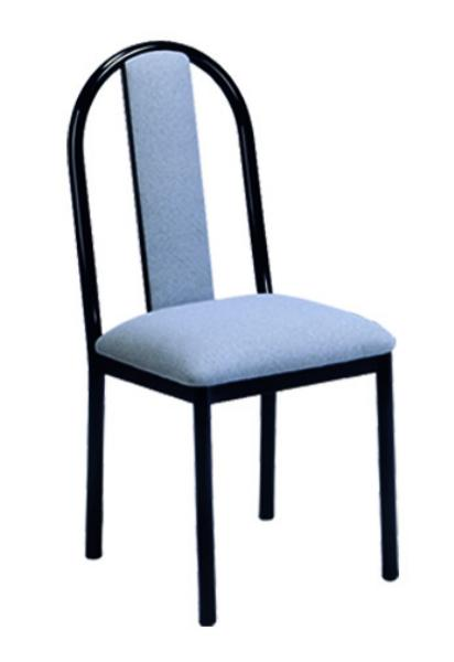 Vitro USBPS Omni Series Chair, Upholstered Slat Back, Metal Frame