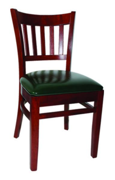 Vitro WLS100 Woodland Series Chair, Slat Back, Upholstered Seat, Wood Frame