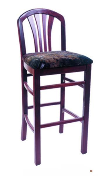 Vitro WLS1150BS Woodland Series Bar Stool, Madison Back, Upholstered Seat, Wood Frame