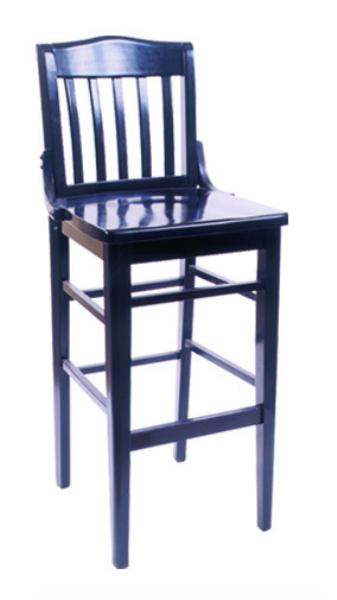 Vitro WLS1180BS Woodland Series Bar Stool, School House, Wood Seat, Wood Frame