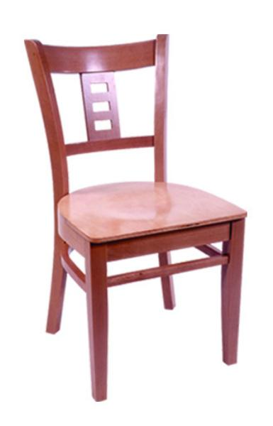 Vitro WLS160 Woodland Series Chair, Plaza Back, Upholstered Seat, Wood Frame